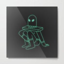 Ghost Head (Dark) Metal Print