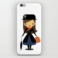 mary poppins iPhone & iPod Skins featuring Mary Poppins by oyoyoi