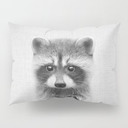 Raccoon - Black & White Pillow Sham