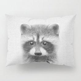 Raccoon - Black & White Pillow Sham