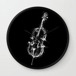 Black Cello Wall Clock