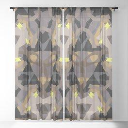 Dark castle kaleidoscope Sheer Curtain