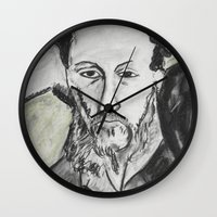 writer Wall Clocks featuring Writer by black door