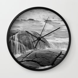 Rocky Shore Icing Wall Clock