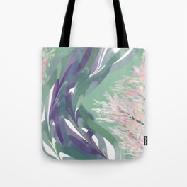 Deep Ocean River Abstract In Soft Green and Purple Tote Bag