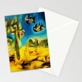 Invasion of the Night Abstract Expressionism landscape by R. Matta Stationery Cards
