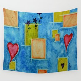 Shapes 3 Abstract Art by Saribelle Rodriguez Wall Tapestry