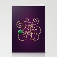 treat yo self Stationery Cards featuring Treat Yo Self by Nana Adwoa Sey