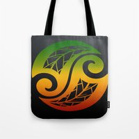 reggae Tote Bags featuring Reggae Poloneisan by Lonica Photography & Poly Designs