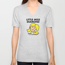 Little Miss Diamond Unisex V-Neck