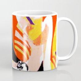 Nude and her Cat    by   Kay Lipton Coffee Mug