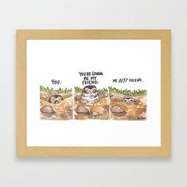 Bird no. 274: Best Friends Framed Art Print