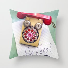 Hello? Throw Pillow