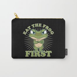"""""""Eat The Frog First"""" Comic Don't postponeTo Dos Carry-All Pouch"""