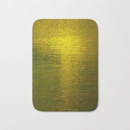 Gold Water I Bath Mat