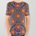 BBQSHOES™: Sun King Fractal Psychedelia Design All-Over Print Shirt by bbqshoes