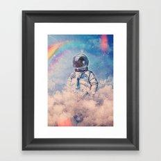 Between the Clouds Framed Art Print