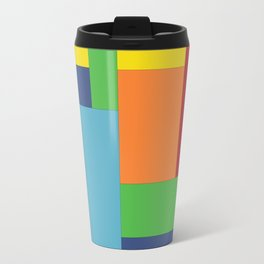 Multicolor square Travel Mug