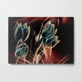 Blaue Tulpen Metal Print
