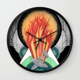 Element of Fire Wall Clock
