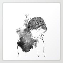 Quiet silence. Art Print