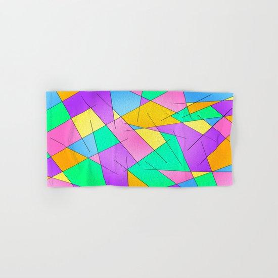 ABSTRACT LINES #1 (Multicolored Vivid) Hand & Bath Towel