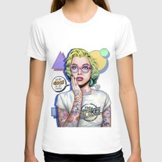 Oh my Gosh, Marilyn Womens Fitted Tee White MEDIUM
