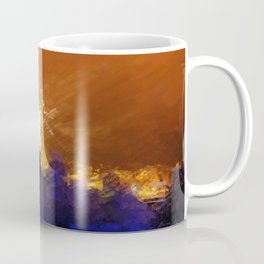 French Church At Night Coffee Mug