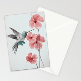Hummingbird with Hibiscus Stationery Cards