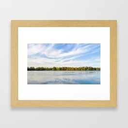 Clouds Above The Lake Framed Art Print