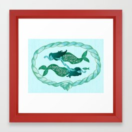 It's Always Ourselves We Find in the Sea (Blue) Framed Art Print