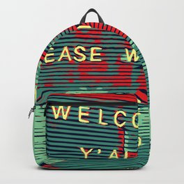 Welcome Y'all - Vector Design Image Backpack