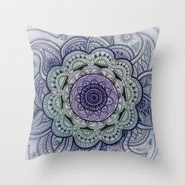 Mandala Violet Throw Pillow