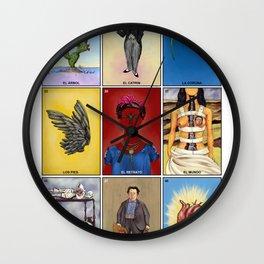 La Lotería de Frida Wall Clock