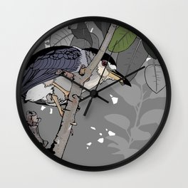 Black-crowned Night-Heron Wall Clock