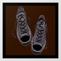 converse Art Prints featuring Converse by maeveelectro
