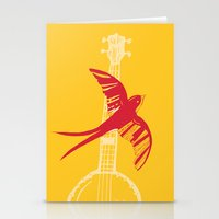 swallow Stationery Cards featuring Swallow by Cai Sepulis