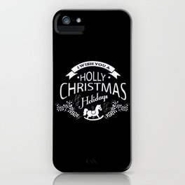 Festive Holly Christmas Holiday Design iPhone Case