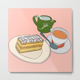 Aftenoon Cake Treat Metal Print