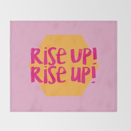 Rise Up (Hamilton Series) Throw Blanket