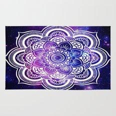 Mandala purple blue galaxy space Rug