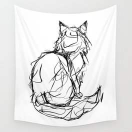Kitty Gesture Wall Tapestry