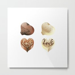 Chocolate hearts Metal Print