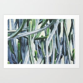 Green Crush Cactus I Art Print