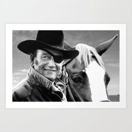John Wayne @ True Grit #1 Art Print