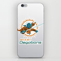 nfl iPhone & iPod Skins featuring Miami Degobans - NFL by Steven Klock