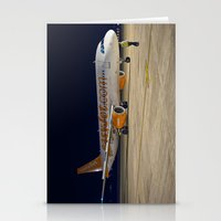 airplane Stationery Cards featuring Airplane by cjsphotos