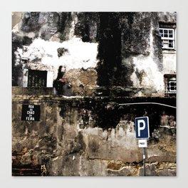 Lisbon - Ruined Facade Canvas Print