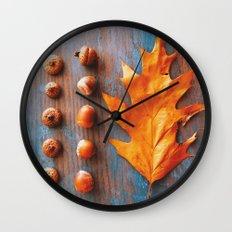 Little Autumn Acorns Wall Clock