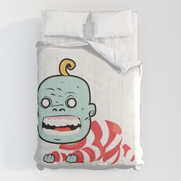 Zombaby decomposition face two Comforters